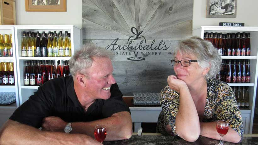 Fred and Sandy Archibald at Archibald's Estate Winery in Bowmanville