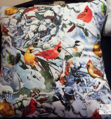 Cardinal Pillow